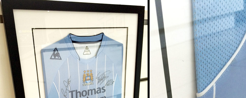 SG Framing in Manchester - Football Shirt Framing Options