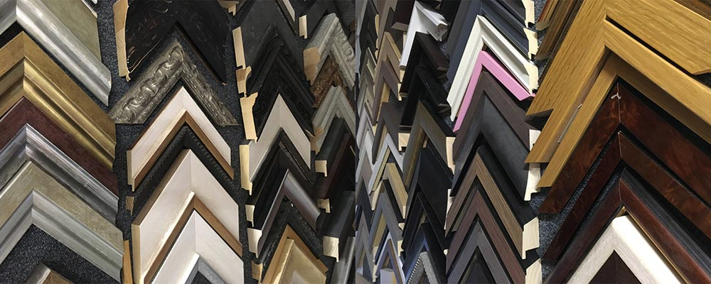 Big selection of picture frame edging, mouldings and frame styles in Manchester with SG Framing 0161 881 8711