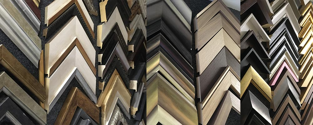 Many picture frame edgings, mouldings and frame styles to choose in Manchester with SG Framing 0161 881 8711