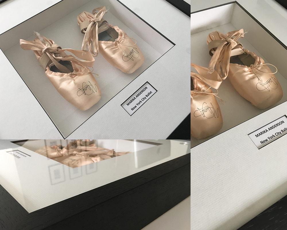 New York City Ballet Shoes Framed