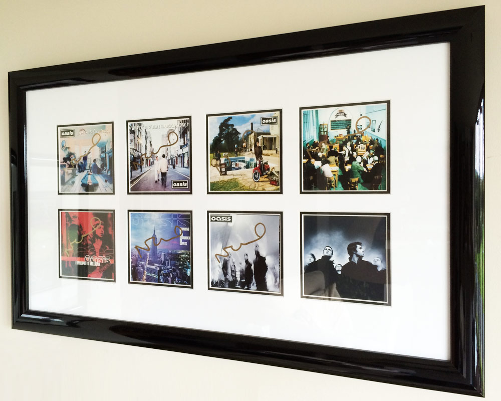 Framed by SG Framing in Manchester Oasis Artwork Album Picture frame